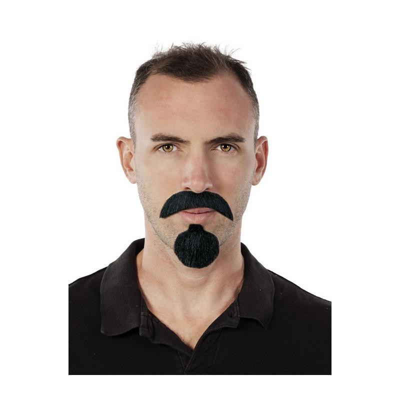 Moustache et bouc noir Accessoires de fête 89212CLOWN