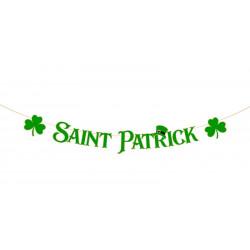 Guirlande lettres vertes Saint Patrick 2 m Déco festive 812200
