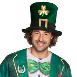 Chapeau haut de forme Saint Patrick avec trèfle Accessoires de fête 44913