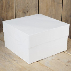 Boîte à gâteau blanche 28x28x15cm Cake Design FC0903