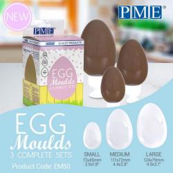 Set 3 moules oeufs de Pâques PME Cake Design EM50
