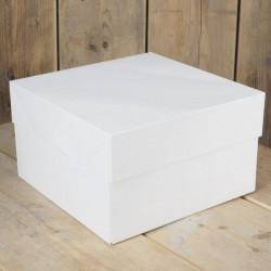 Boîte à gâteau blanche 30x30x15cm Cake Design FC0904