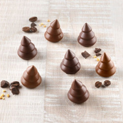 Moule silicone à chocolat 3D choco sapin Silikomart Cake Design 22.154.77.0065
