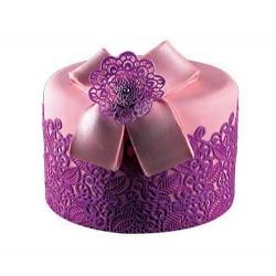 Tapis silicone pour dentelle marguerite en sucre Silikomart Cake Design 23.081.87.0196