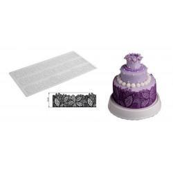 Tapis silicone pour dentelle feuille en sucre Silikomart Cake Design 23.084.87.0196