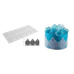 Tapis silicone pour dentelle fantaisie en sucre Silikomart Cake Design 23.085.87.0196