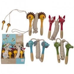 Corde à sauter en bois animaux 235cm Jouets et articles kermesse 766187