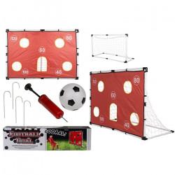 Set de but avec ballon de foot et accessoires 156x107cm Jouets et articles kermesse 633054