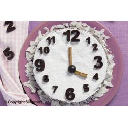 Moule silicone à chocolat chiffres 123 Silikomart