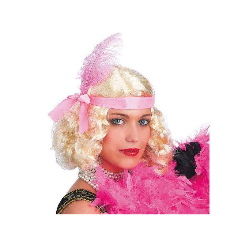 Perruque Layla blonde avec plume Accessoires de fête 2447