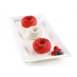 Moule silicone 3D 6 Mini Intreccio Silikomart Cake Design 26.290.13.0065