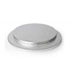 Support argenté pour gâteau rond Silikomart 35 cm Cake Design 73.454.99.0001