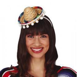 Mini sombrero mexicain Accessoires de fête 18743