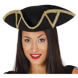 Chapeau amiral noir adulte Accessoires de fête 13384