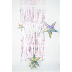 Rideau de porte lamelles métallisées irisées 2,5 m Déco festive 502700