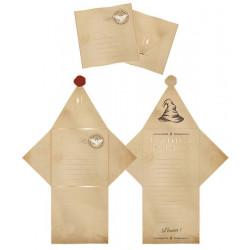 Set 6 cartes invitations et enveloppes apprenti sorcier Déco festive 913306