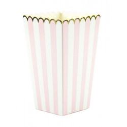 Boîte à pop-corn rose, blanche et or x 8 Déco festive 913701