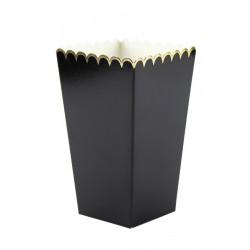 Boîte à pop-corn noire et or x 8 Déco festive 913702