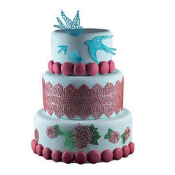 Tapis silicone blanc pour dentelle en sucre Silikomart Cake Design 23.086.87.0196