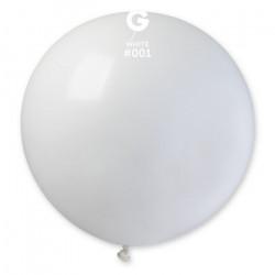 Sachet 1 ballon baudruche géant 80 cm blanc