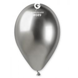 Sachet 5 ballons latex shiny 33 cm argent Déco festive 327014