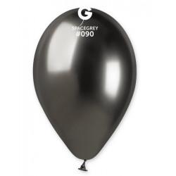 Sachet 5 ballons latex shiny 33 cm gris foncé Déco festive 320107