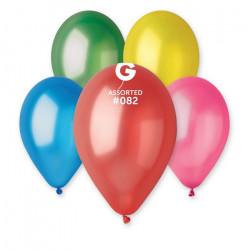 Sachet 10 ballons métallisés 30 cm multicolore foncé