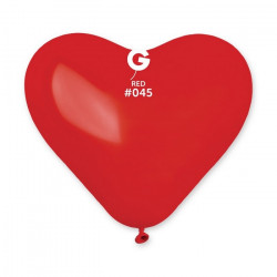 Sachet 50 ballons coeur rouge foncé 25 cm