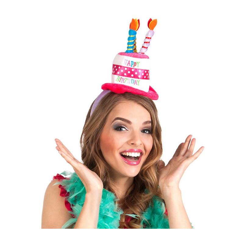 Serre-tête mini chapeau anniversaire adulte Accessoires de fête 00940