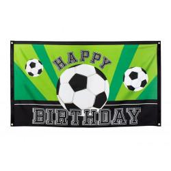 Drapeau football anniversaire 90x150cm Déco festive 62502