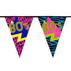 Guirlande fanions années 80's 6 m Déco festive 44600