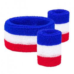 Set 3 bandeaux éponge France Accessoires de fête 61980BO