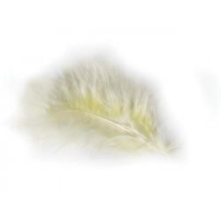 Sachet de 5 plumes décoratives ivoire 10-15 cm Déco festive 0701-01