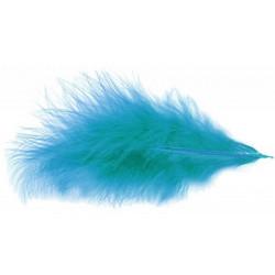 Sachet de 100 plumes 5-10 cm - Turquoise Déco festive 0702-12