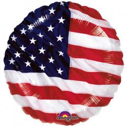 Ballon alu hélium drapeau USA 45 cm Déco festive 115228 01
