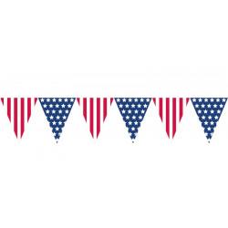 Guirlande fanions drapeau USA 3.65 m Déco festive 120057