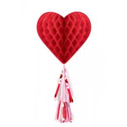Cœur alvéolé avec traîne St. Valentin Déco festive 290142