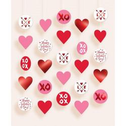 Set 5 décorations à suspendre Saint Valentin Déco festive 670982