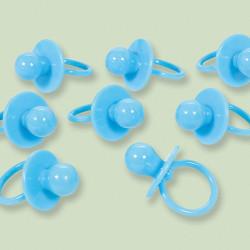 Tétine plastique x 8 baby shower bleu Déco festive 380103