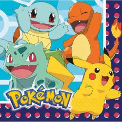 Serviettes papier x 16 Pokémon 33 cm Déco festive 9904821