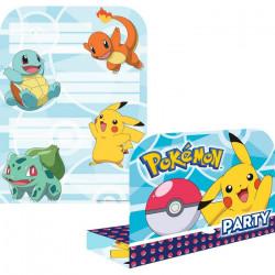 Cartes invitation anniversaire Pokémon x 8 Déco festive 9904829