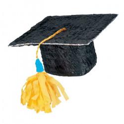 Pinata noire chapeau étudiant Déco festive P12980
