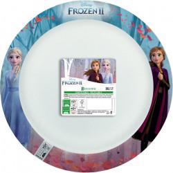Assiettes x 8 La Reine des Neiges 2 compostable 24 cm Déco festive LFRZ92647