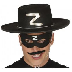 Loup noir bandit masqué Z Accessoires de fête 12718