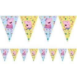 Guirlande fanions Peppa Pig 2.30 m Déco festive LPIG91104