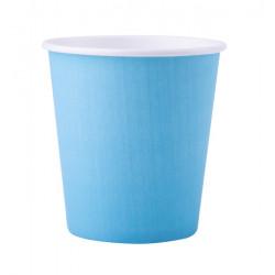Gobelets carton Fiesta x 25 Bleu pastel 20 cl Déco festive V547OZBP
