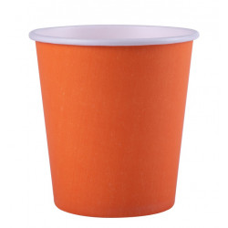 Gobelets carton Fiesta x 25 Orange 20 cl Déco festive V547OZM