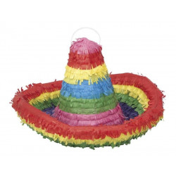Pinata chapeau sombrero multicolore Déco festive U66222