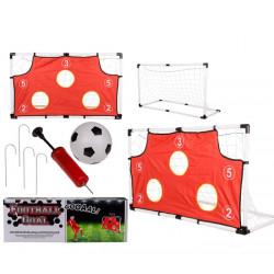 Cage de foot tir au but avec ballon de foot et accessoires 119x71cm Jouets et articles kermesse 633055