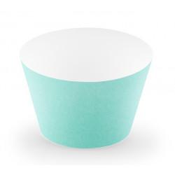 Wraps caissettes à cupcakes Aloha turquoise x 6 Cake Design FM9